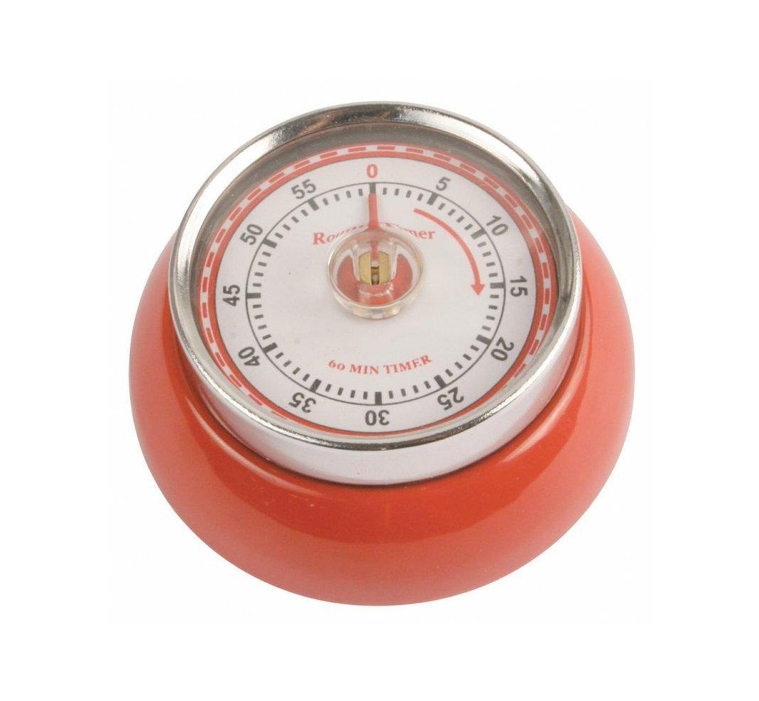 Amazon.com: Kikkerland Kitchen Retro Magnetic Timer, Red: Kitchen U0026 Dining
