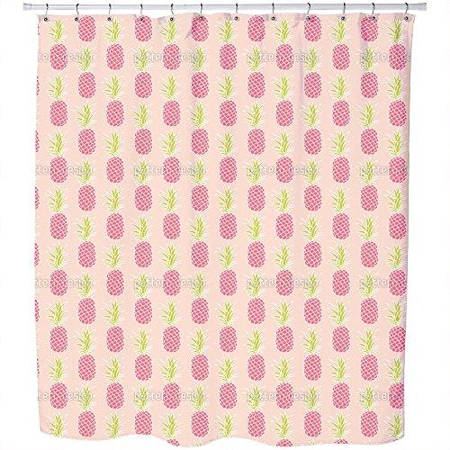 Uneekee Pineapple Sunset Shower Curtain: Large Waterproof Luxurious Bathroom Design Woven Fabric by uneekee