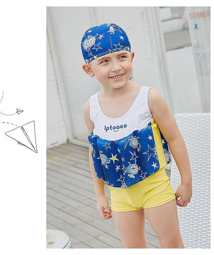 Gogokids Costume da Bagno Intero con Galleggianti per Bambino Tuta Galleggiante per Ragazzi Nuoto Abbigliamento Senza Maniche