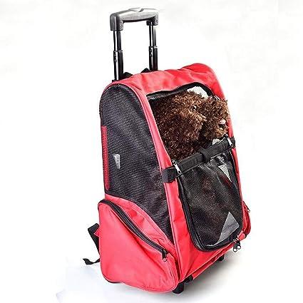 Mochila para Mascotas Portátil Bolso Bandolera pequeña y Mediana para Perros Bolsa de Viaje para Viajes