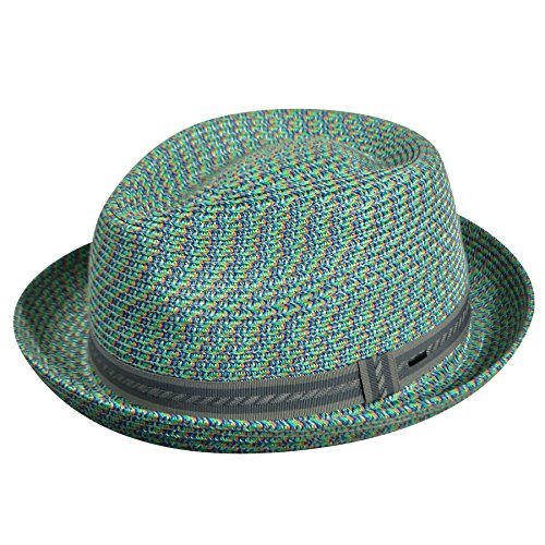 Bailey of Hollywood Men's Mannes Braided Fedora Trilby Hat, Lime (Large) ()