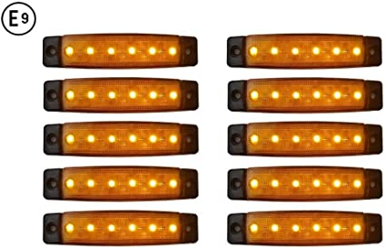 A1 10 X Led 24v Orange Begrenzungsleuchte Positionsleuchte Seitenmarkierungsleuchte Lkw Auto