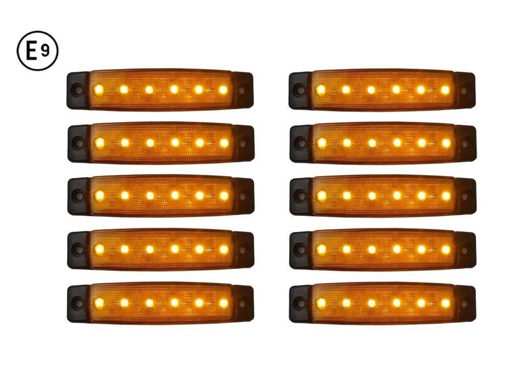 10 x LED 12V ORANGE BEGRENZUNGSLEUCHTE POSITIONSLEUCHTE SEITENMARKIERUNGSLEUCHTE LKW