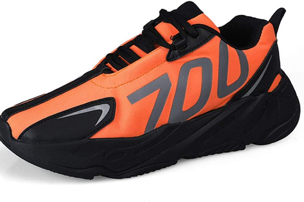 WOJIYU Ligero Hombres Zapatillas de Deporte del monopatín otoño Zapatos de los Zapatos Suaves y cómodos para Caminar con Estilo Zapatos de Alta Top Running (Color: Plata, tamaño: 39-44),Naranja,43: Amazon.es: Hogar