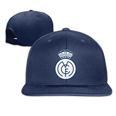 Male/Female UEFA Champions League Real Madrid CF Logo Cotton Flat Snapback Baseball Caps Adjustable