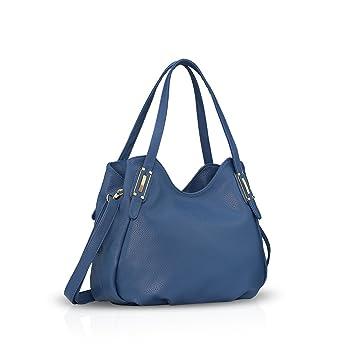 d22fe77050b0b NICOLE DORIS Dame Handtaschen Umhängetasche Schultertasche Messenger Bag PU  Blau