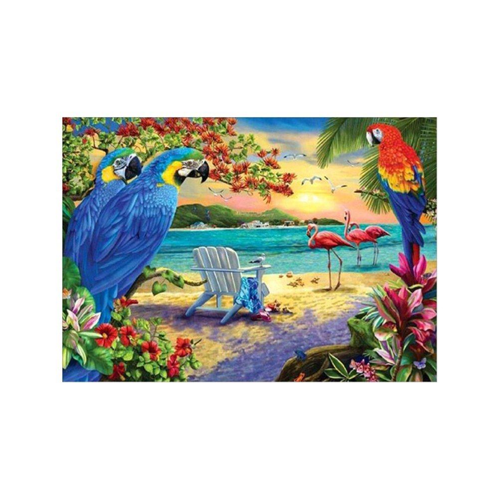 Colorido 5D DIYアニマル柄刺繍ダイヤモンド絵画ウォールステッカー ホームインテリア 5 3775DOQF02VIL7178GNQ B0799KRWMN 5