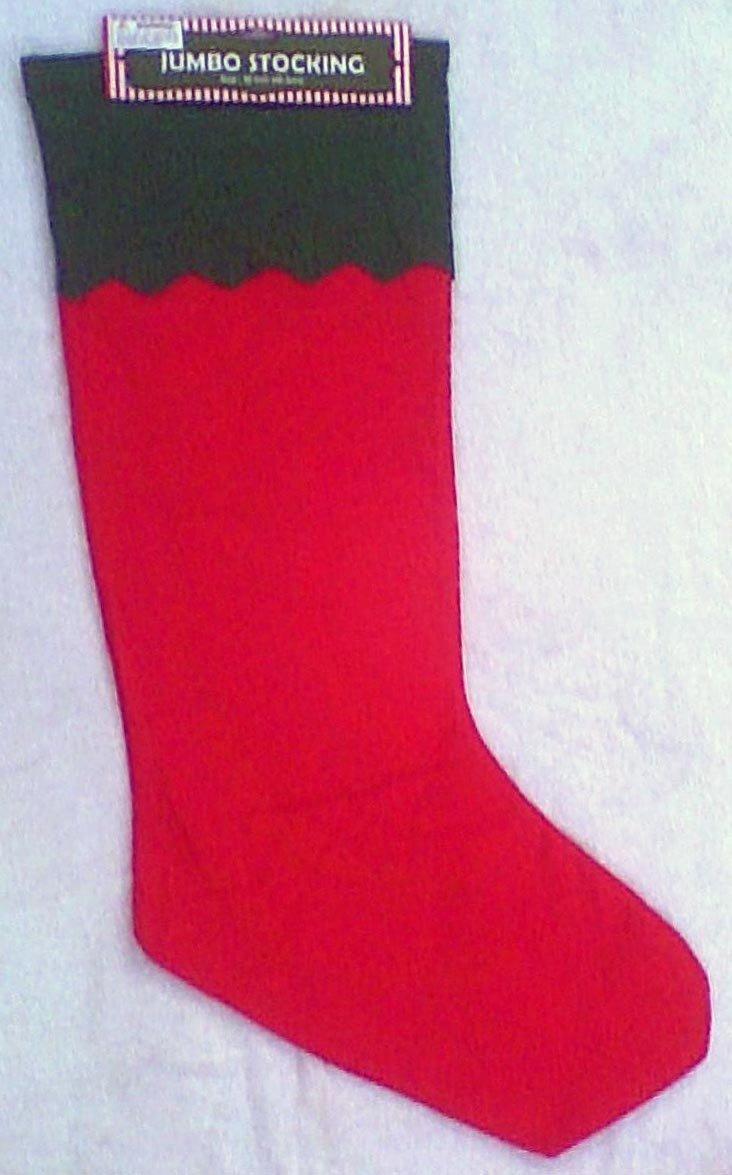 Amazon.com: Jumbo Christmas Stocking - Measures 33 Inches Long: Home ...