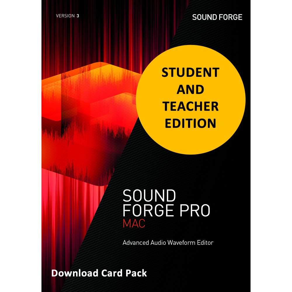 MAGIX Sound Forge Pro 3 MacOSX for Students & Teachers [Download Card] by Genesis MGX