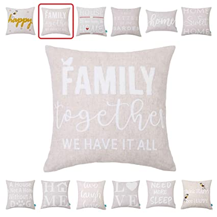 Amazon.com: Embroidery Throw Pillow Covers Quotes Decorative Pillow on happy needlework designs, happy jewelry, happy knitting, happy wedding, happy craft, happy quilt designs, happy glass designs, happy clothing, happy stamping designs, happy drawing designs, happy art, happy screen printing designs,