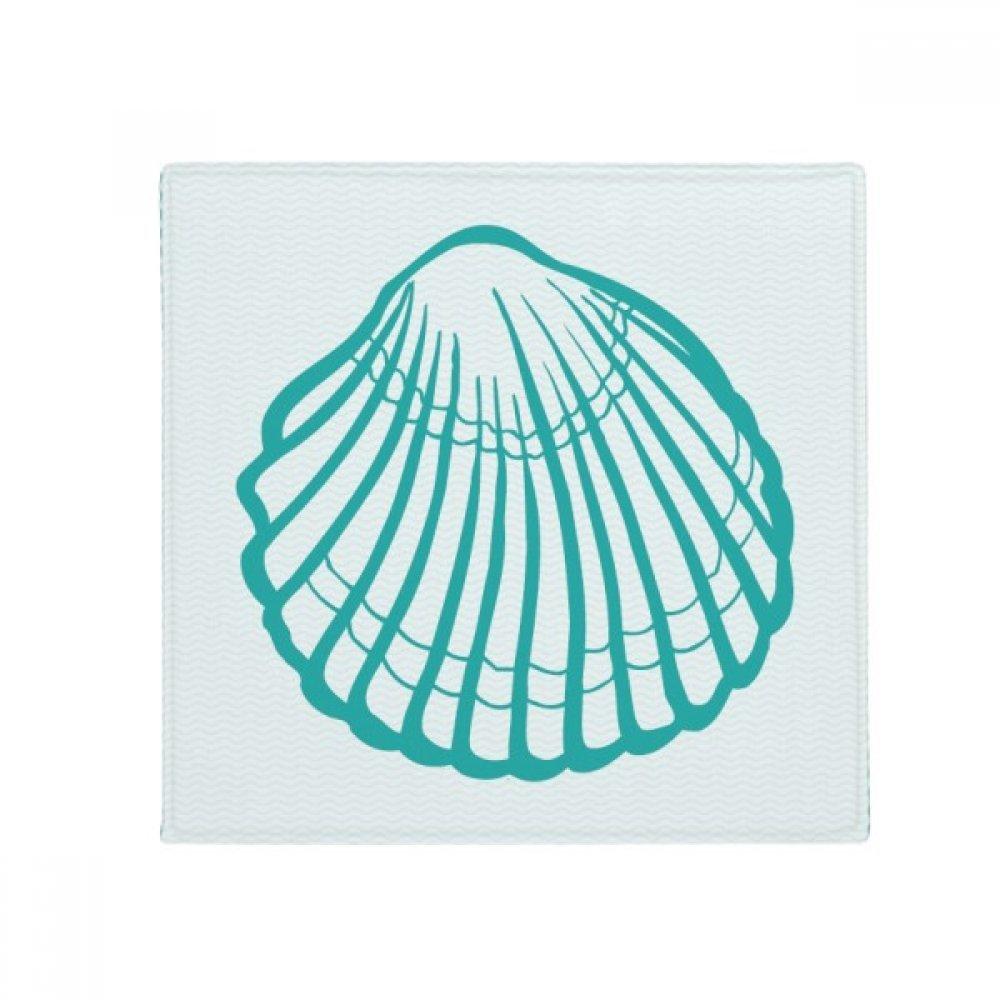 DIYthinker Scallop Marine Life Green Illustration Anti-Slip Floor Pet Mat Square Home Kitchen Door 80Cm Gift