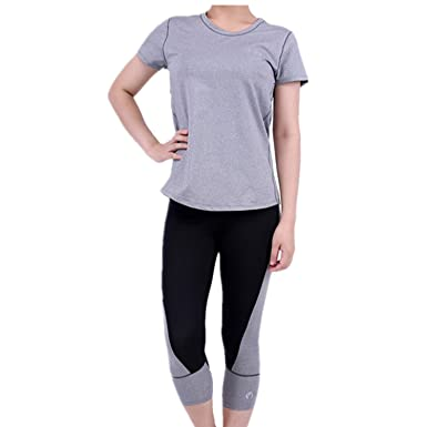 NEW GAILY Performance Activewear Women s Gym Outfit Set Yoga Capri Work-out  Leggings Pants 2 09d625892e9c