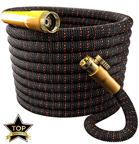 TBI Pro [Upgraded 2019 Garden Hose Expandable - Superior 3750D | 4-Layers Latex | Extra-Strong Brass Connectors (50FT Hose Only)