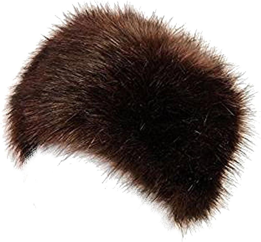 LADIES WOMENS GLAMOROUS FAUX FUR RUSSIAN COSSACK HAT