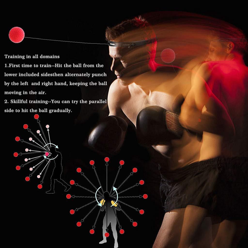 boxeo para entrenamiento boxeo boxeo Pelota de boxeo Reflex Ball con banda para la cabeza boxeo boxeo boxeo boxeo boxeo boxeo