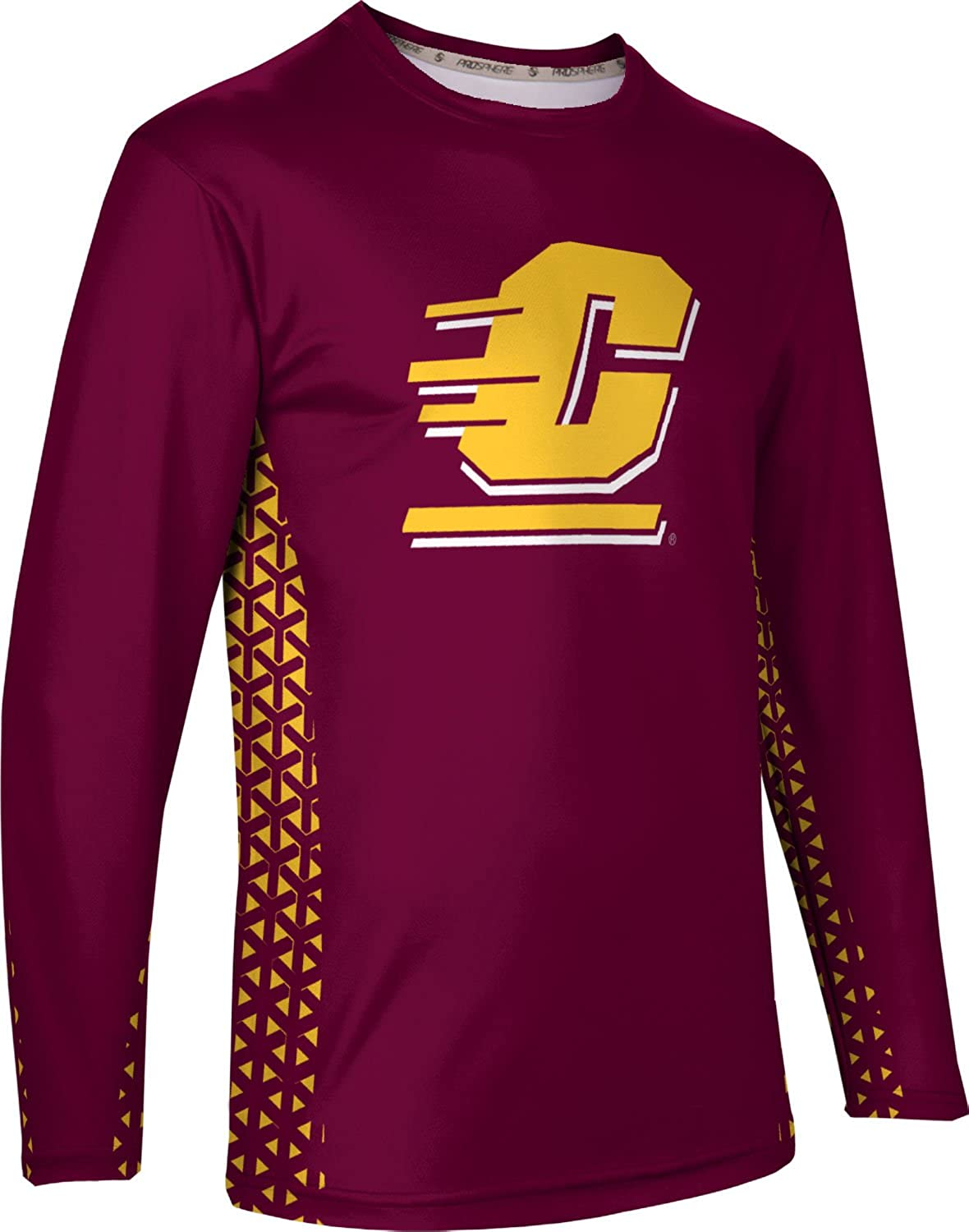 Geometric ProSphere Central Michigan University Mens Long Sleeve Tee