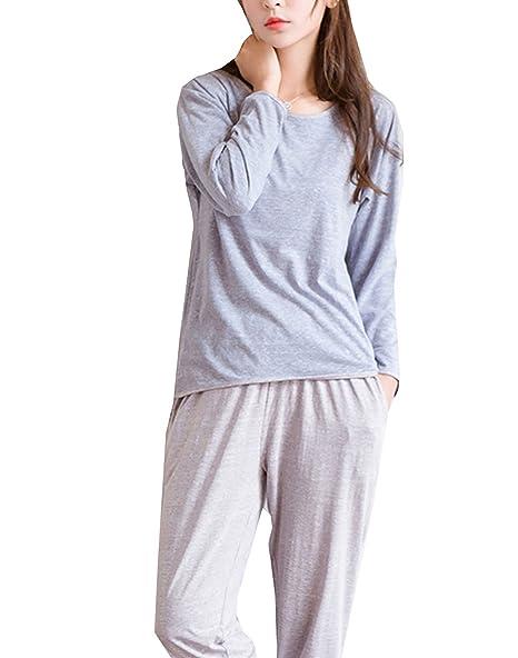 Amazon.com: Big Girls cómodo pijamas color sólido conjunto ...