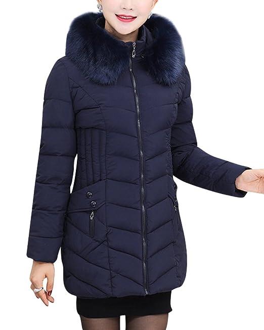 Piumino Giubbotti ZhuiKun Giacca Eleganti Lunga Cappotti Donna FqwfzEwS