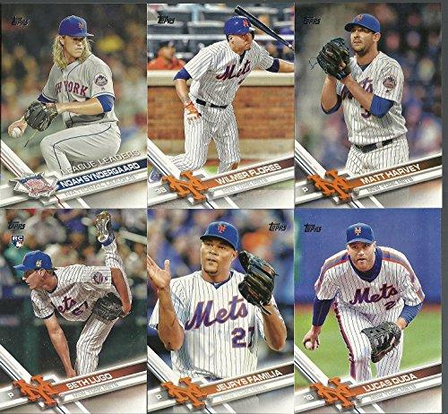 2017 Topps Series 1 & 2 New York Mets Team Set 27 Cards David Wright Matt Harvey Jacob Degrom Noah Syndergaard