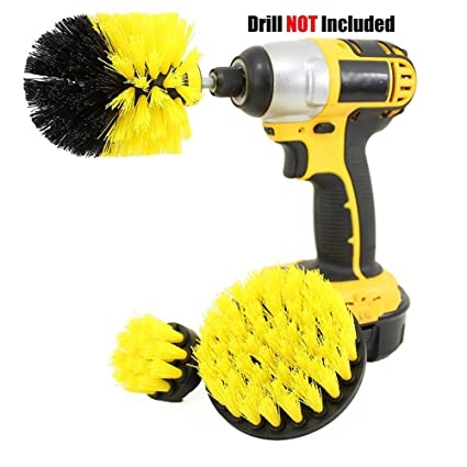3Pcs//Set Tile Grout Power Scrubber Cleaning Drill Brush Tub Cleaner Combo.