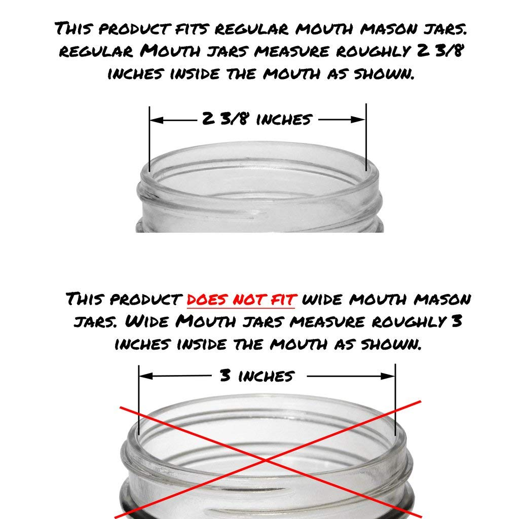 3 Storage Lids Instructions and Bamboo Tongs Mason Jar Fermentation Airlock Lid Kit -3 Regular Mouth Fermenting Lids with Airlocks and Stoppers LIDS FIT REGULAR//SMALL MOUTH MASON JARS white, 3