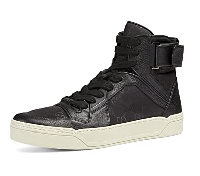 eb59b2d8cc0 Amazon.com  Gucci Men s Nylon Guccissima High-Top Sneaker