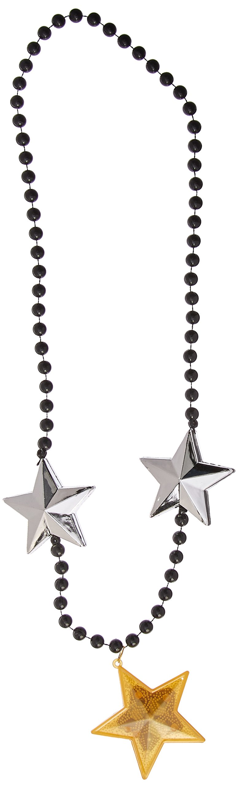 Amscan Jumbo Bead Party Necklaces with Light-Up Stars, 40'', 6 Ct.
