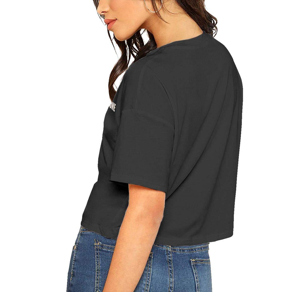 Chouven Women Crop Tops Dont Rust Anyone Round Neck Short Sleeve T-Shirt
