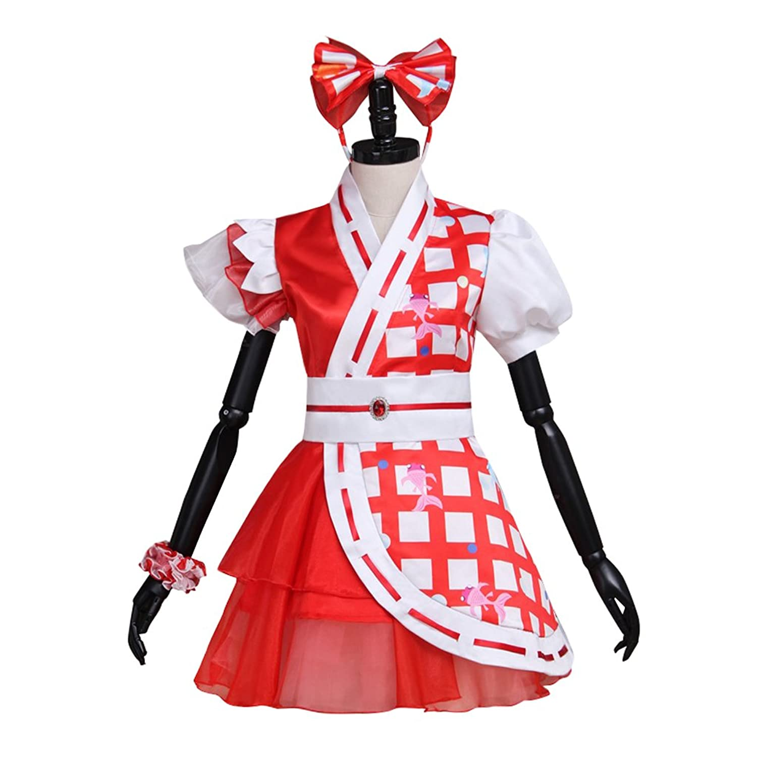 Cosplayitem Women Girls Performance Dresses Party Birthday Dress Fancy Dress Japanese Style Cosplay Dress Red