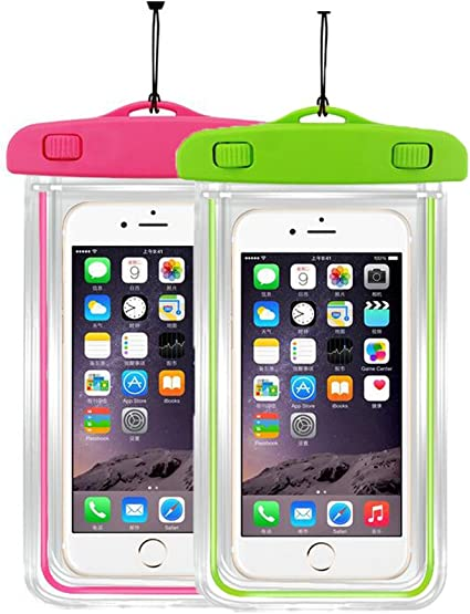 Black Universal Waterproof Case 2Pack CaseHQ IPX8 Waterproof Phone Pouch Dry Bag for iPhone X//8//8plus//7//7plus//6s//6//6s Plus Samsung Galaxy s8//s7 Google Pixel HTC10 up to 6.0 Diagonal