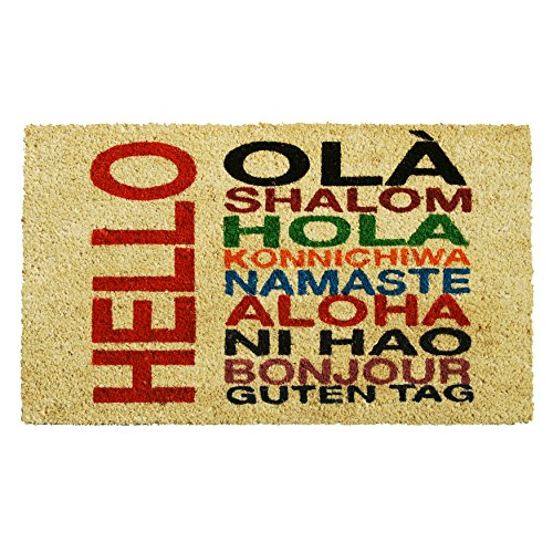 Home & More 121381729 International Hello Doormat, 17