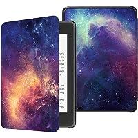 Fintie SlimShell Funda para Kindle Paperwhite (10.ª generación, 2018) - Carcasa Fina y Ligera de Cuero Sintético con Función de Auto-Reposo/Activación, Galaxia