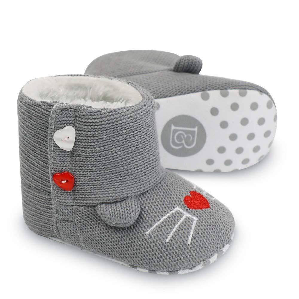 eb2a20387755 Zapatos de Primeros Pasos para Bebe Niñas Niños Moda Otoño Invierno ...
