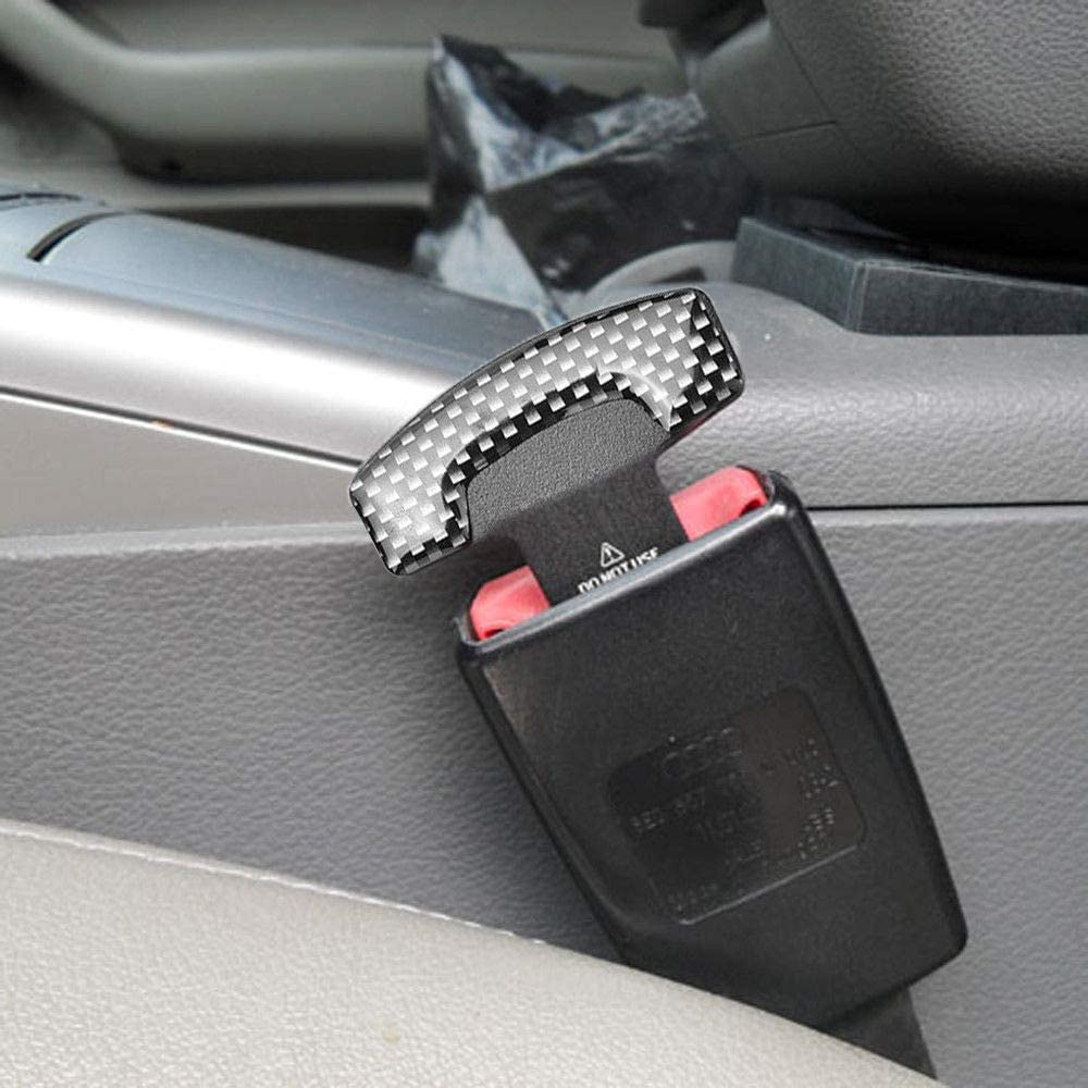 Anceev Car Seat Belt Clip, Universal Seat Belt Buckle Auto Metal Seat Belts Clip 2 Pack: Automotive