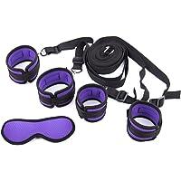 Intimate Melody Bandages au Lit Violet et Noir Portable avec 4 Sangles Réglables, en Nylon et Velours