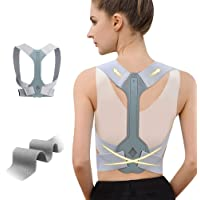 WNIEYO Updated Posture Corrector for Men and Women,Adjustable Upper Back Brace for Clavicle Support and Providing Pain Relief from Neck Shoulder Upright Straightener Comfortable (S 25-30 lnch)
