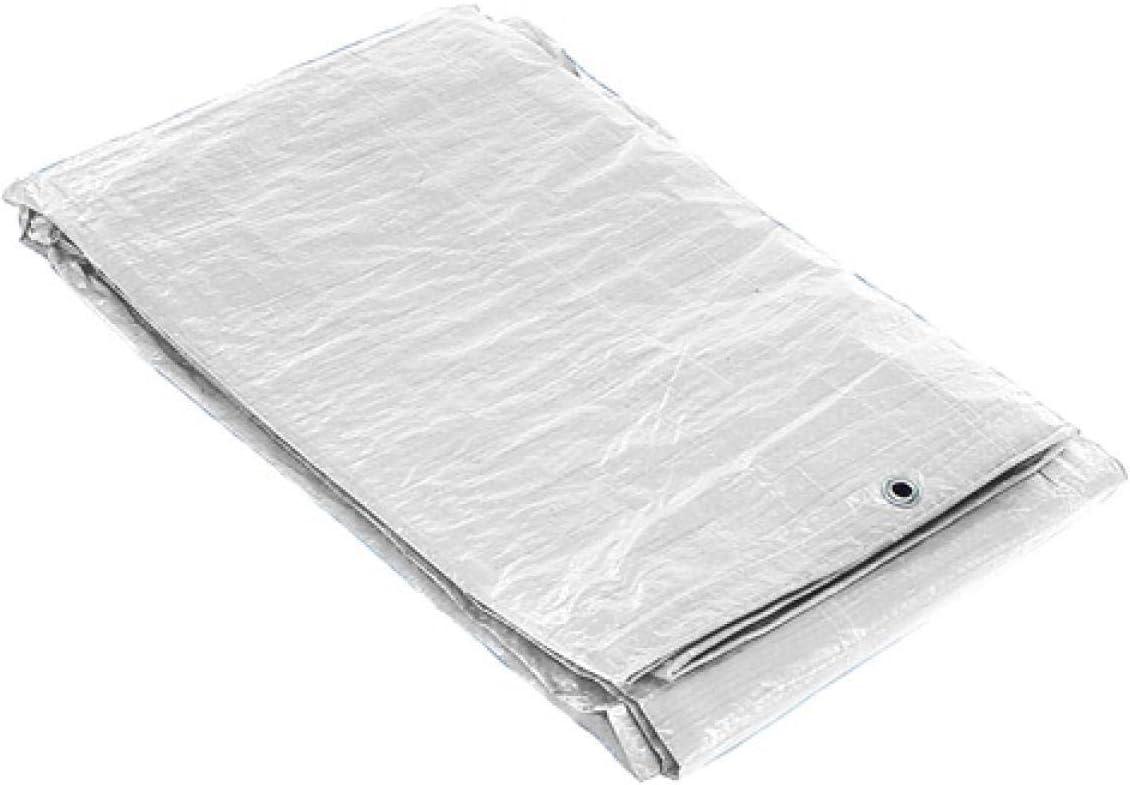 SATURNIA 15070050 Lona Impermeable Reforzada 3x4 (Aproximadamente) con Ojetes Metálicos, Lona de Protección Duradera, Color Blanco, 3 x 4 metros