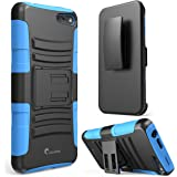 i-Blason Amazon Fire Phone Case - Prime Series Dual Layer Holster Case with Kickstand and Locking Belt Swivel Clip (Blue)