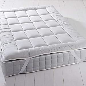 Royal Plush Mattress Topper, King, 2 Inches Hypoallergenic Overfilled Down Alternative Anchor Bands Mattress Topper