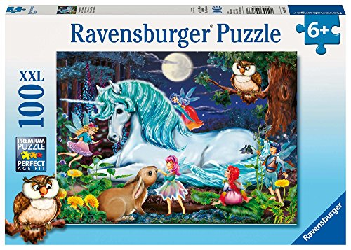 Enchanted Forest Jigsaw Puzzle - Ravensburger Enchanted Forest - 100 Piece Jigsaw Puzzle for Kids - Every Piece is Unique, Pieces Fit Together Perfectly