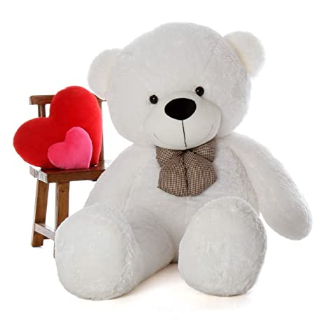 439ba31f1 Buy ToyBulk 4 Feet Tall Teddy Bears 48 inch White Colour Birthday and  Wedding Gift Item Online at Low Prices in India - Amazon.in