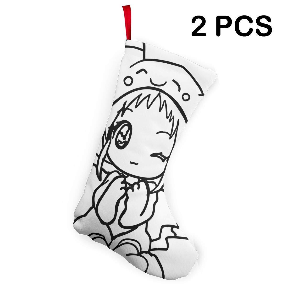 Amazoncom Liumong Anime Fox Girl Black White Christmas Stockings