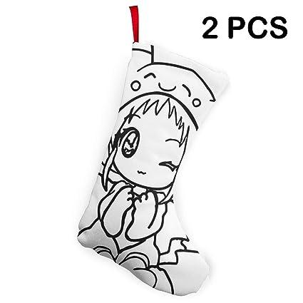 Black And White Christmas Stockings.Amazon Com Liumong Anime Fox Girl Black White Christmas
