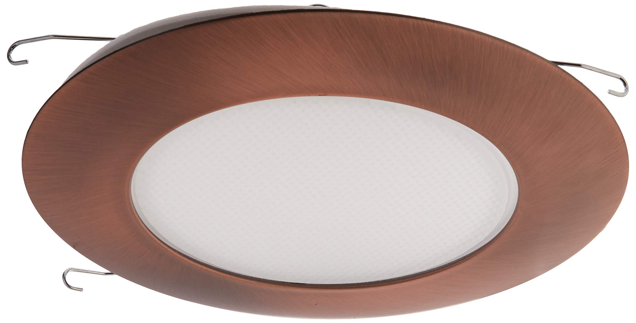 NICOR Lighting 6-Inch Recessed Lexan Shower Trim with Albalite Lens, Bronze (17505BZ)