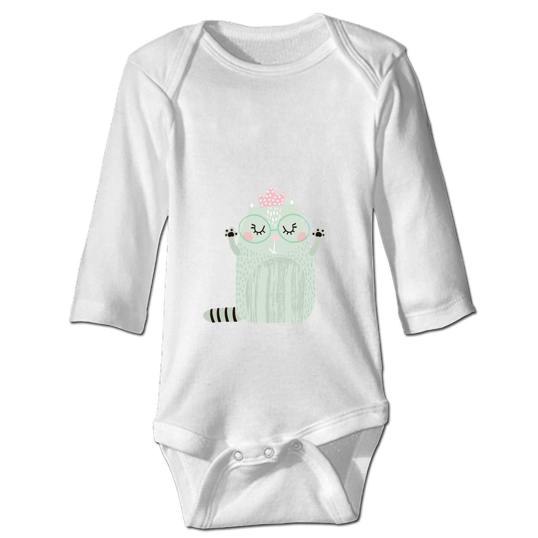 Unisex Baby Long-Sleeve Onesies Furry Cats Cotton Bodysuits
