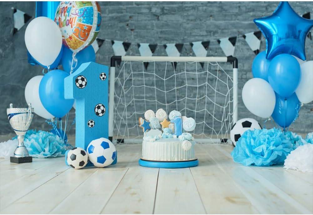 YongFoto 2,2x1,5m Polyester Foto Hintergrund Baby Junge Erster Geburtstag Kuchen Smash Hintergrund Blau Fotografie Hintergrund Kinder Fotostudio Hintergr/ünde Requisiten