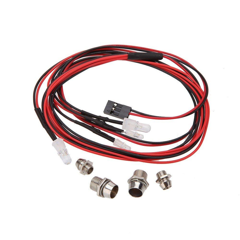 4er-Set LED Scheinwerfer Lampe Licht f/ür 1//10 1//8 Rc Auto Rot und Wei/ß