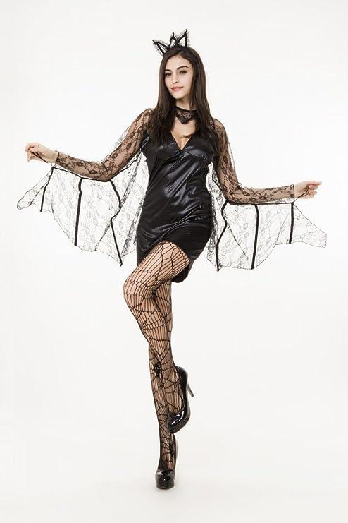 shoperama Disfraz para Mujer Sexy Murciélago con Punta Vampiro ...