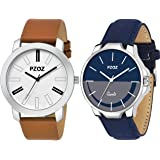 Foryou Analogue Blue And Orange Dial For Boys And Mens (Foryou)