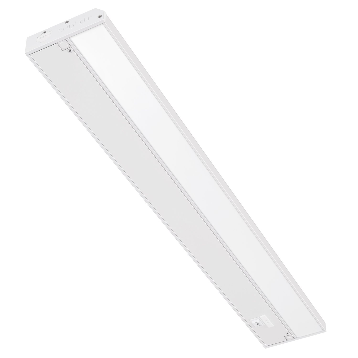 GetInLight 3 Color Levels Dimmable LED Under Cabinet Lighting with ETL Listed, Warm White 2700K , Soft White 3000K , Bright White 4000K , White Finished, 24-inch, IN-0210-3